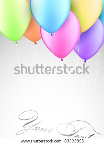 Vector balloons - stock vector