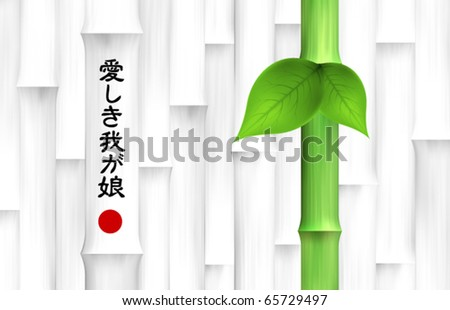 Vector Bamboo Background - stock vector