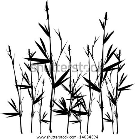 Vector bamboo silhouette - stock vector