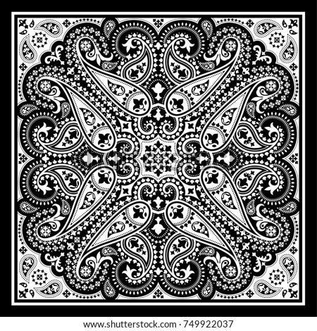 vector bandana print paisley ornament cotton stock vector 749922037 rh shutterstock com bandana vector pattern download bandana vectoriel