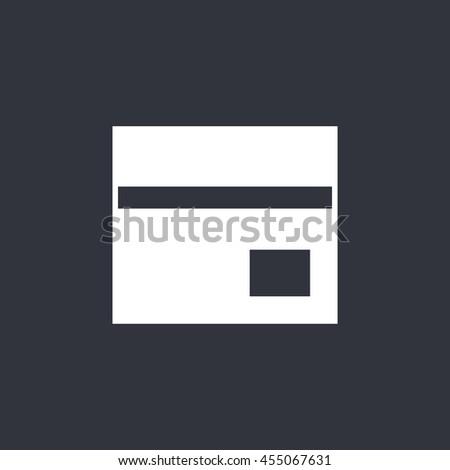 Vector bank card icon - stock vector