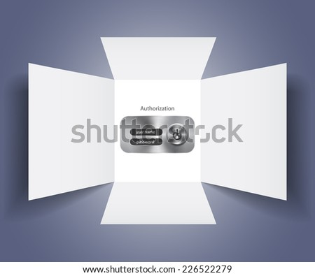 Vector banking authorization form - stock vector