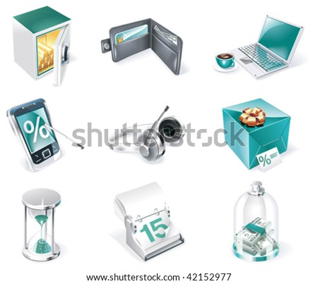 Vector banking icon set. Part 1 - stock vector
