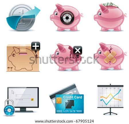 Vector banking icons. Part 1 - stock vector