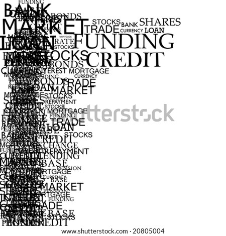 Vector Banking Typography - stock vector