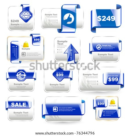 Vector banner collection for sale. - stock vector