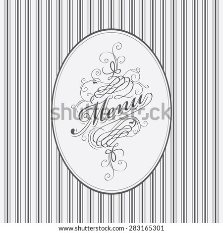 vector banner for menu with words in retro style - stock vector