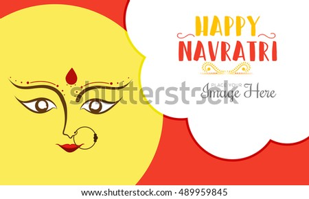 Vector banner or poster of Navratri celebration background,grand discount offers.