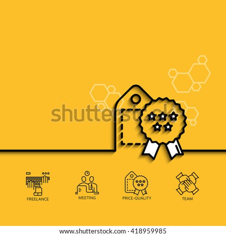 Vector banner  price-quality ratio  - stock vector