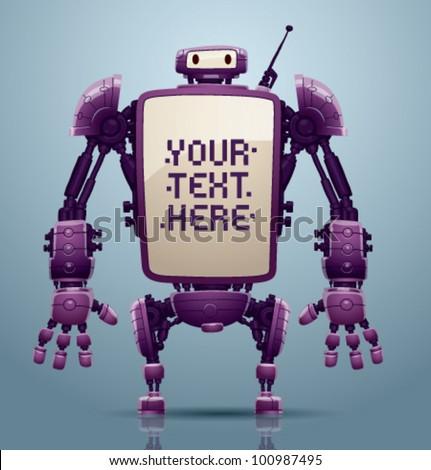 vector banner robot 8 - stock vector