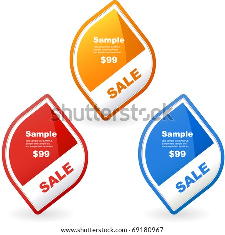 Vector banner set for sale - stock vector