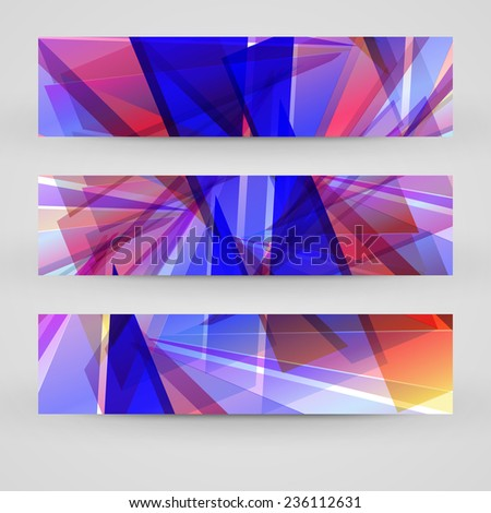 Vector banner set for your design, abstract Illustration. - stock vector