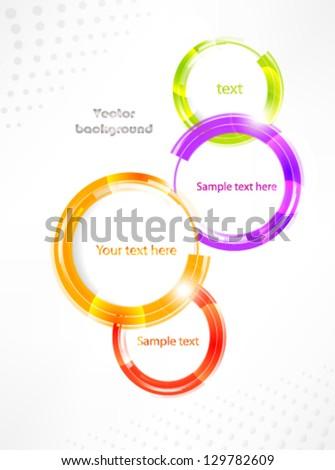 Vector banner speech bright bubble - stock vector