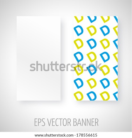 Vector banner with different color D letters decoration