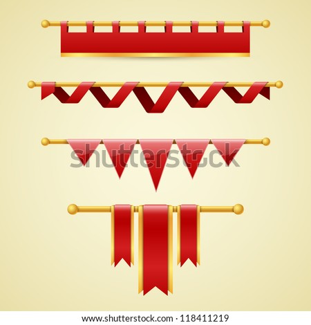 Vector banners and ribbons - stock vector