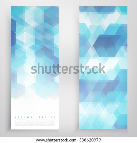 Vector banners and triangles. Color flyer background - stock vector