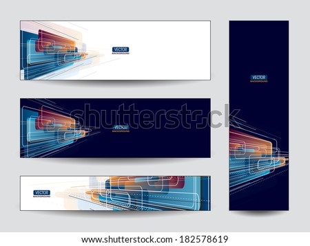 Vector Banners / Bookmarks. Abstract Background. - stock vector