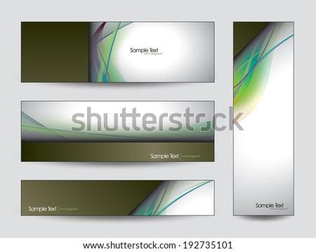 Vector Banners. Eps10. - stock vector