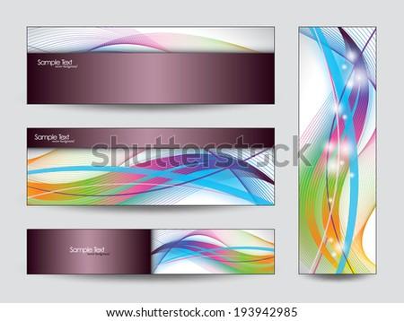Vector Banners. Eps10 Backgrounds. - stock vector