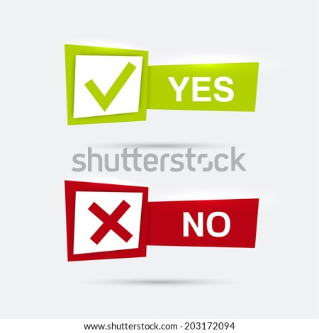 Vector Banners Check Marks Confirmation Acceptance Stock Vector