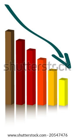 Vector bar chart (column diagram). All elements are easy to edit.