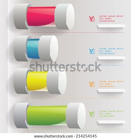 Vector bar chart on the white background. Infographic element. Vector illustration - stock vector