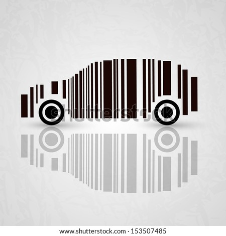Vector bar code - car