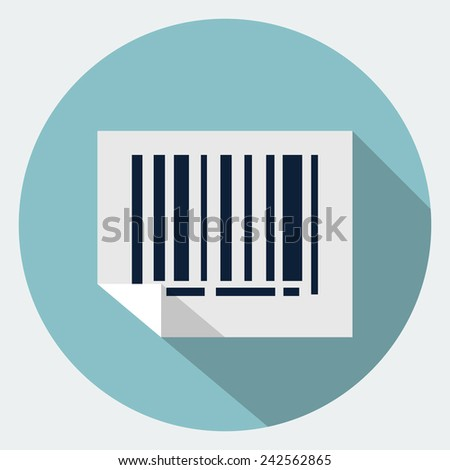 Vector bar code icon - stock vector