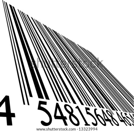 vector bar code on a solid white background - stock vector