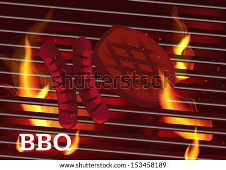 vector barbecue  bbq - stock vector