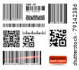 Vector Barcode Label Collection - stock photo