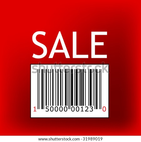 vector Barcode sale stamp