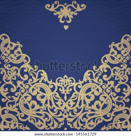 Vector baroque seamless border in Victorian style. Element for design. It can be used for decorating of invitations, greeting cards, decoration for bags and clothes. - stock vector