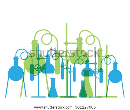 Vector based on a chemistry lab, abstract background - stock vector