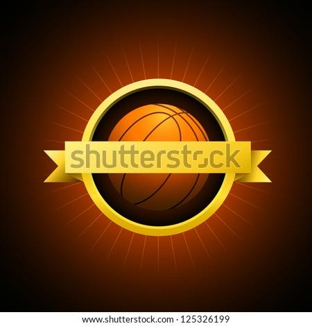 Vector Basketball emblem - stock vector