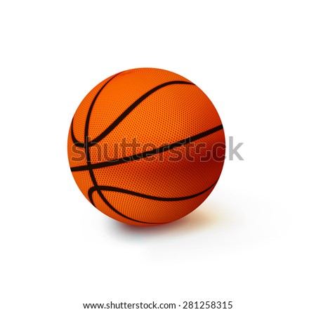 Vector Basketball isolated ball on a white background - stock vector