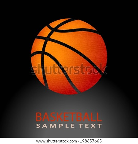 Vector Basketball isolated on a black background. Fitness symbol  - stock vector