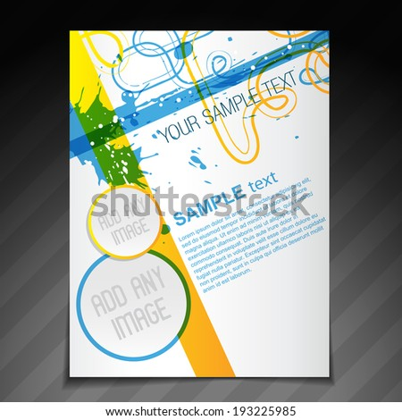 vector beautiful brochure flyer template illustration - stock vector