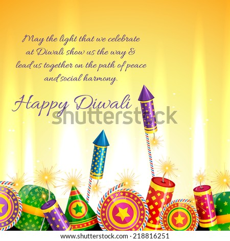 Vector beautiful card of diwali  - stock vector