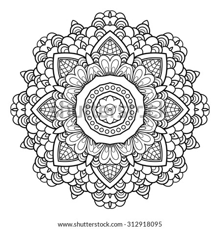 Vector Beautiful Deco Mandala. Abstract Object Isolated On White Background. Ethnic Decorative Element
