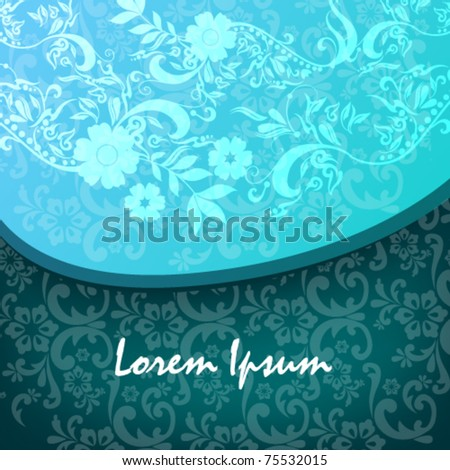 Vector beautiful floral background illustration - stock vector