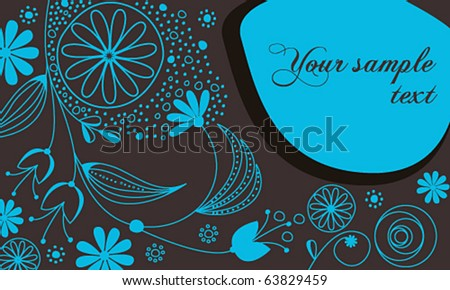Vector beautiful floral romantic background - stock vector