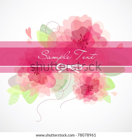 vector beautiful flower background