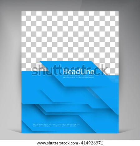 Vector Beautiful Blue Flyer Template Flyers Stock Vector 412057039