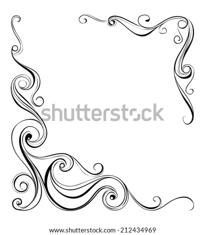 vector beautiful frame. design elements  - stock vector