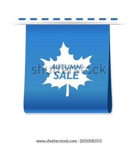 Vector beautiful Free Autumn Sale web icon label - stock vector