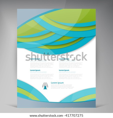 Vector Vertical Flyer Template Design Editable Stock Vector
