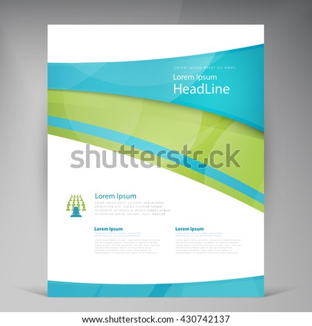 Vector Beautiful Green Flyer Template Flyers Stock Vector