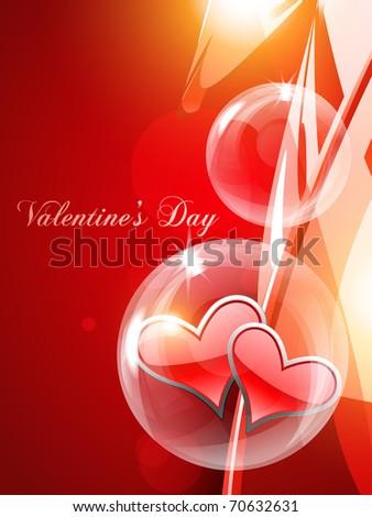 vector beautiful heart enclosed in bubble - stock vector