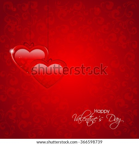 Vector beautiful heart greeting or illustration for Valentines day.